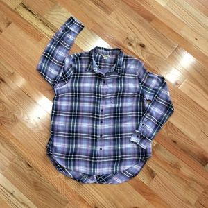 Lucky Brand flannel tunic